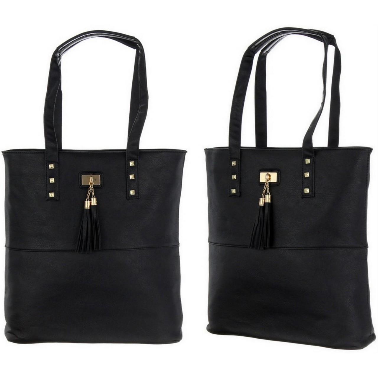 Damen Handtasche schwarz / Schultertasche / Shopper