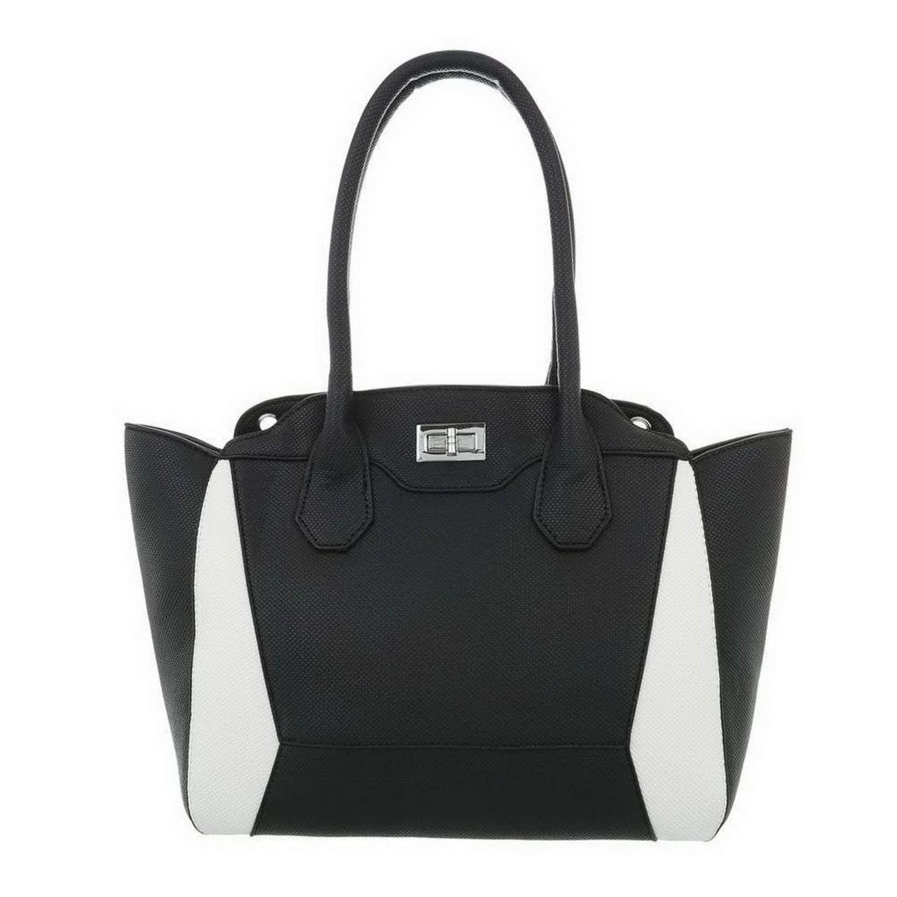Damen Handtasche-blackwhite