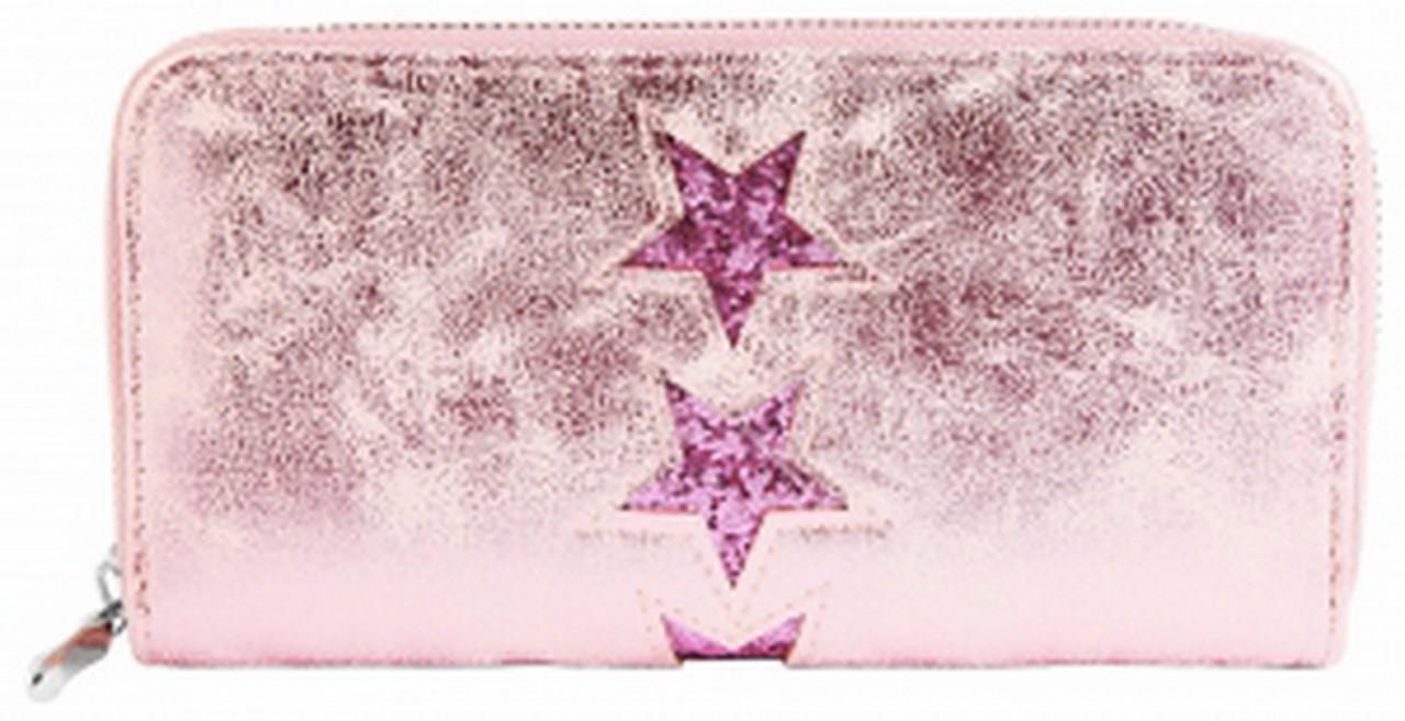 Damengeldbörse rosa mit Sterne