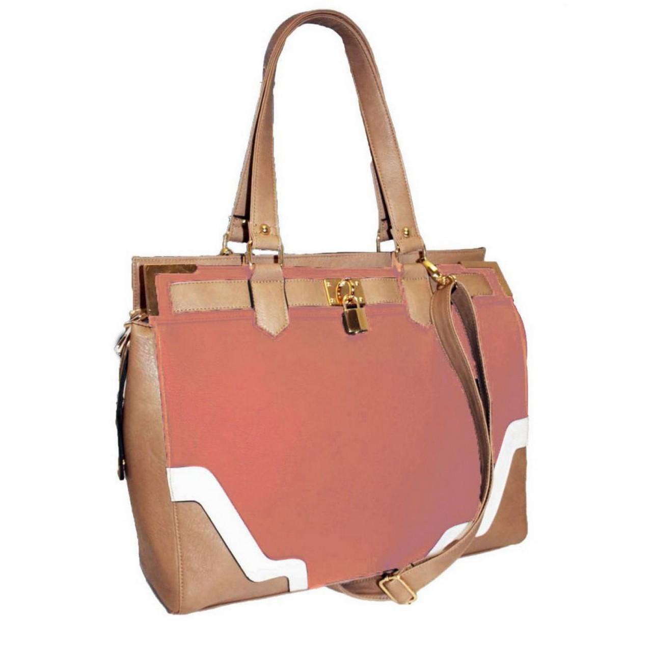 Damen Handtasche rosa / Schultertasche / Shopper