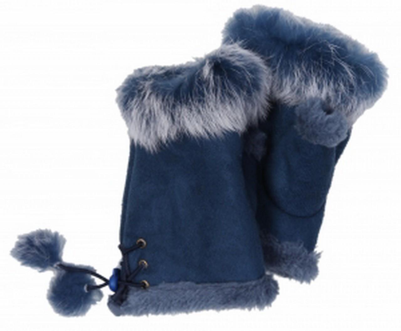 Cham Cham Handschuhe blau, 100% Polyester