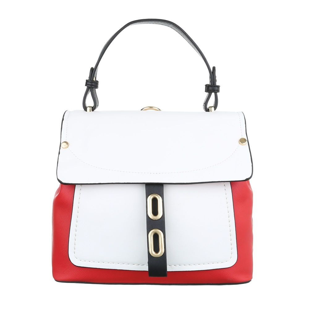 Damen Schultertasche-red-white-black