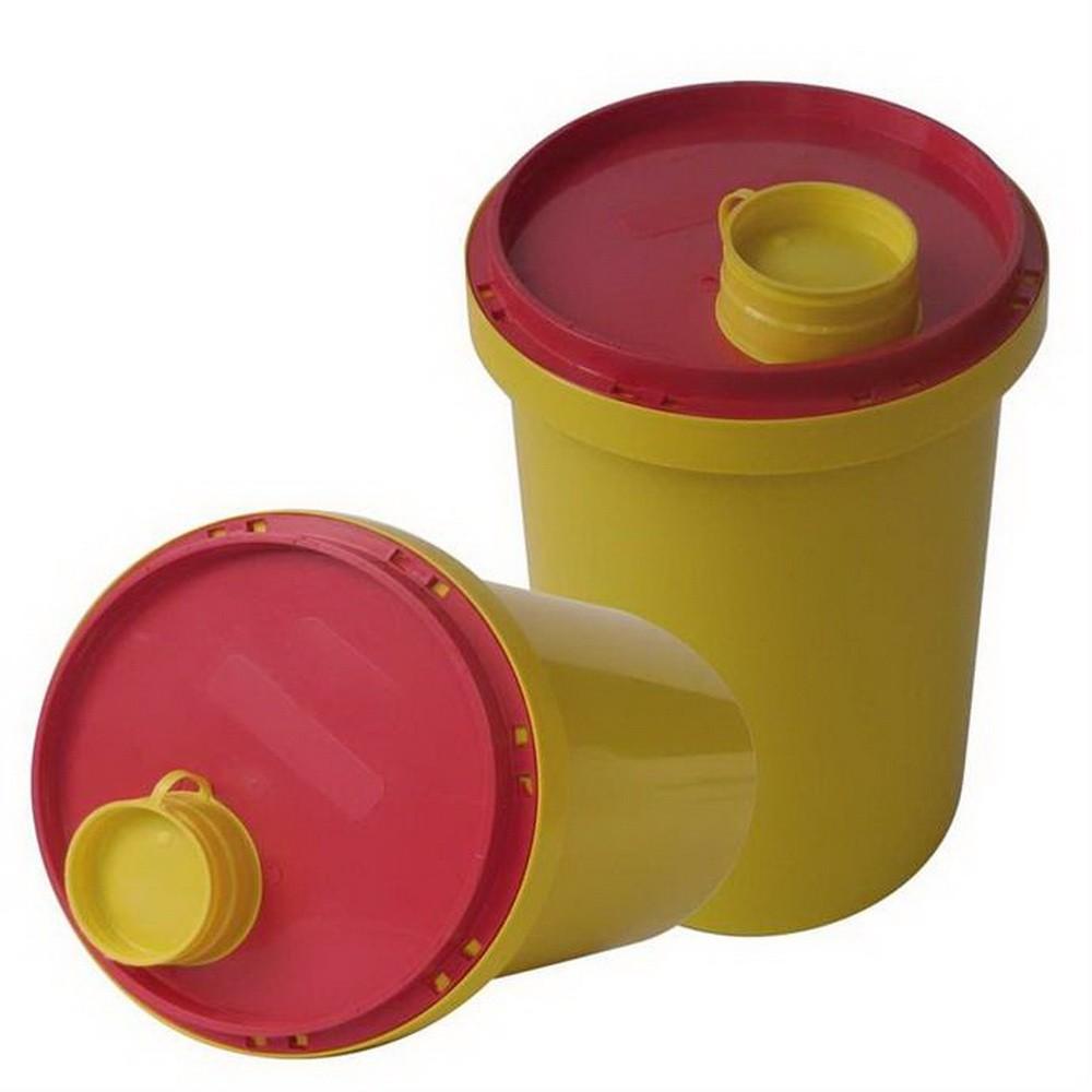 Abwurfbehälter für Skalpell und Kanülen, 1Liter