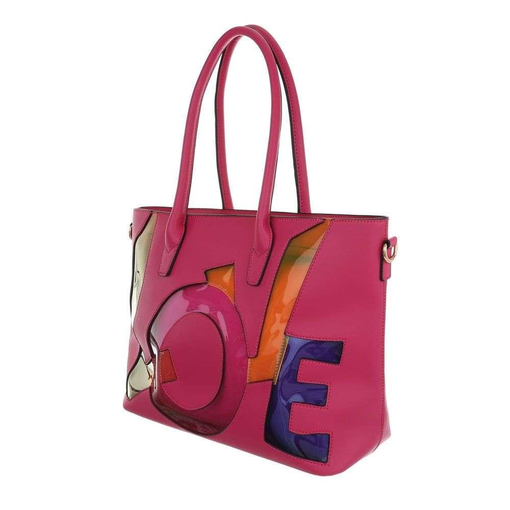 Damen Schultertasche - pink