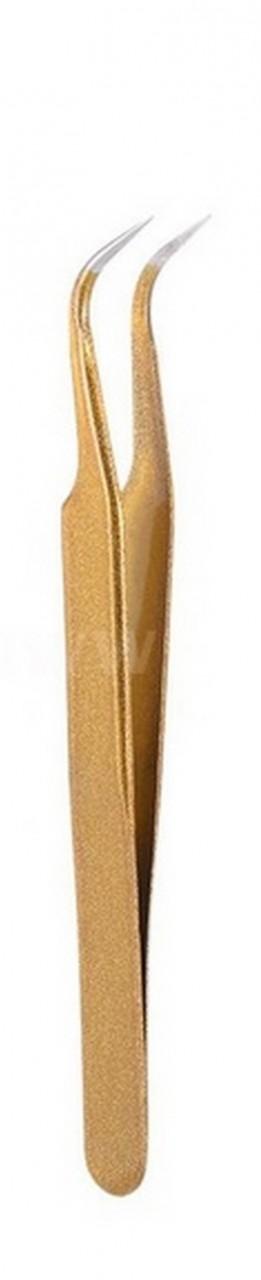 Wimpern-Pinzette gebogen - Vetus HRC 40 Tweezers goldfarben